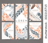 set of vector design templates. ... | Shutterstock .eps vector #332215715