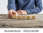 front view of a man placing...   Shutterstock . vector #332216336
