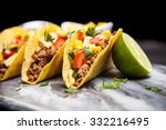 mexican food   delicious tacos... | Shutterstock . vector #332216495