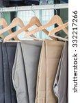 plants hanging on coat hanger... | Shutterstock . vector #332217266