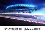 finish line gate on racetrack... | Shutterstock . vector #332223896