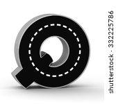 road letter alphabet font 3d...   Shutterstock . vector #332225786