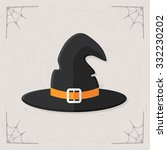 Witch Hat Icon. Vector Flat...