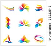 colorful brand identity design... | Shutterstock .eps vector #33223543