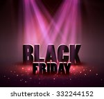 black friday sale background... | Shutterstock .eps vector #332244152