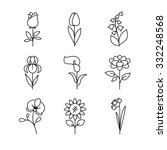 popular wedding flowers... | Shutterstock .eps vector #332248568
