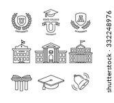 mortar board  education  school ... | Shutterstock .eps vector #332248976
