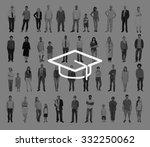 mortar board education... | Shutterstock . vector #332250062