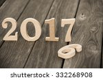 happy new year 2017 on nature...   Shutterstock . vector #332268908