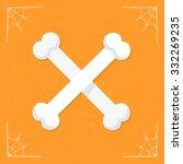bones icon. vector halloween...   Shutterstock .eps vector #332269235