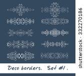 ten decorative borders in white ... | Shutterstock .eps vector #332270186