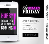 black friday banner with... | Shutterstock .eps vector #332277002