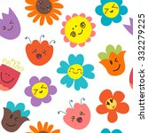 seamless pattern with funny... | Shutterstock .eps vector #332279225