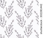 hand drawn thyme branch outline ... | Shutterstock .eps vector #332281442