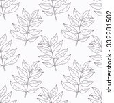 hand drawn curry leaves and...   Shutterstock .eps vector #332281502