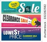 sale banners design | Shutterstock .eps vector #332282582