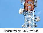 telecommunication tower with... | Shutterstock . vector #332295335