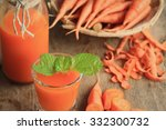 Fresh Carrot With Juices