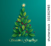 christmas tree. seasons... | Shutterstock .eps vector #332302985