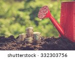 money growth concept coins in... | Shutterstock . vector #332303756