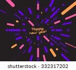 happy new year firework | Shutterstock .eps vector #332317202