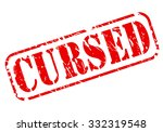 cursed red stamp text on white | Shutterstock .eps vector #332319548