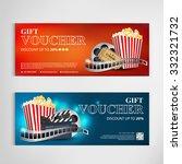 gift voucher movie template... | Shutterstock .eps vector #332321732
