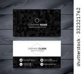 dark modern business card... | Shutterstock .eps vector #332321762
