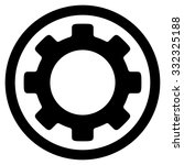 gear vector icon. style is flat ... | Shutterstock .eps vector #332325188