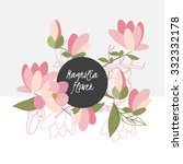 illustration with beautiful... | Shutterstock . vector #332332178