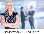 business woman standing in... | Shutterstock . vector #332335775