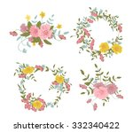 abstract floral composition... | Shutterstock . vector #332340422
