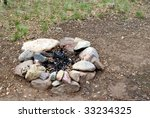 Campfire Ring. Stones In A...