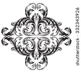 vintage baroque frame scroll... | Shutterstock .eps vector #332343926