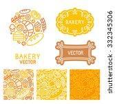 vector set of logo design... | Shutterstock .eps vector #332345306