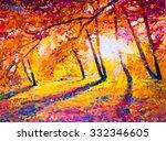Original Oil Painting  Autumn...