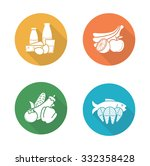 food flat design icons set.... | Shutterstock .eps vector #332358428