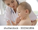 baby in doctor's office for... | Shutterstock . vector #332361806