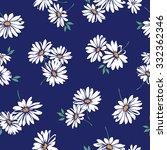 margaret flower pattern | Shutterstock .eps vector #332362346