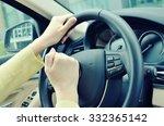 beeping car driver | Shutterstock . vector #332365142
