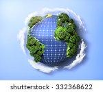 concept of green solar energy.... | Shutterstock . vector #332368622