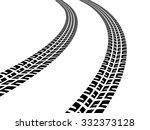 vector print textured tire... | Shutterstock .eps vector #332373128