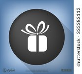 pictograph of gift | Shutterstock .eps vector #332383112