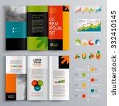 business brochure template... | Shutterstock .eps vector #332410145