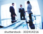 group of business objects at... | Shutterstock . vector #332414216