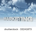 the word marketing and a ladder ... | Shutterstock . vector #33241873