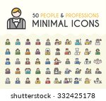 set of 50 minimalistic solid... | Shutterstock .eps vector #332425178