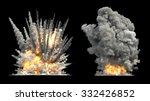 big explosion on ground | Shutterstock . vector #332426852
