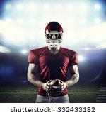 american football player... | Shutterstock . vector #332433182