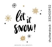 let it snow  christmas... | Shutterstock .eps vector #332433932